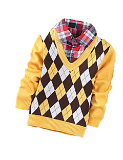 Boy's Casual/Daily Geometric Sweater & CardiganCashmere / Wool Winter / Spring / Fall Red / Yellow / Gray