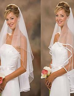 Bryllupsslør To-lags Fingerspids Slør Tyl