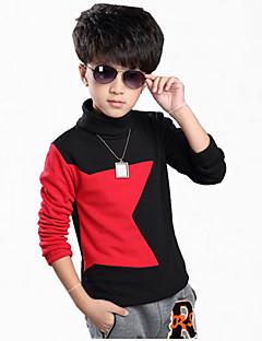 Casual/Dagelijks Kleurenblok Katoen Winter Lange mouw Jongen Hoodie & Sweatshirt Normaal
