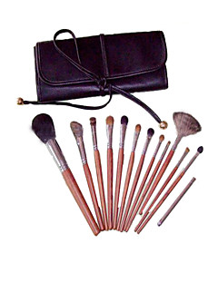 13 Makeup Brushes Set Squirrel Portable Wood Face NFSS