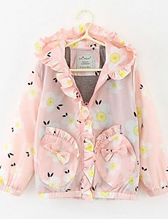Girl's Casual/Daily Floral Jacket & CoatPolyester Spring / Fall Pink / Purple
