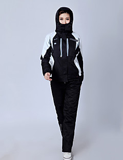 Sport Skiklær Bukser Vinterjakke Ski/Snowboardjakker Klessett/Dresser Dame Vinterplagg Chinlon Klassisk Vinterklær Pustende Hold VarmSki