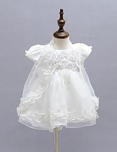 Baby Formelle Kjole Ensfarget Polyester Alle årstider