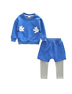Boy's Casual/Daily Print Hoodie & Sweatshirt / Pants / Clothing SetCotton Spring / Fall Blue / Gray