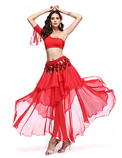Belly Dance Outfits Women's Performance Spandex / Polyester Ruffles 3 Pieces 8 Colors