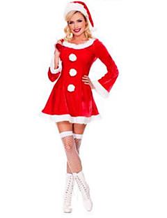 Festival/Højtider Halloween Kostumer Ensfarvet Nederdel Hatte Jul Kvindelig Pleuche