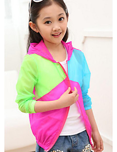 Girl's Casual/Daily Solid Hoodie & SweatshirtPolyester Summer Blue / Pink / Red