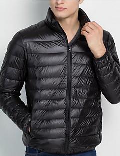 רגיל מעיל פוך מעיל גברים,אחיד פשוטה מידות גדולות כותנה / פוליאסטר פוליפרופילן-שרוול ארוך עומד כחול / אדום / שחור / אפור / ירוק