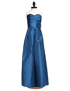 2017 לנטינג טפטה מרצפת אורך bride® שושבינה הזוטר בשמלת מעטפת / טור מתוק עם פרח (ים) שתי וערב