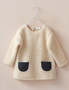 Girl's Casual/Daily Polka Dot Hoodie & SweatshirtCotton / Spandex / Others Winter Brown / White