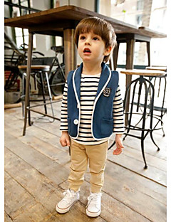 Boy's Casual/Daily Solid VestCotton Fall Blue