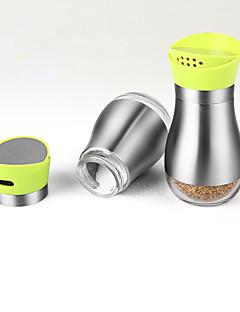 2pcs per set Mutfak Paslanmaz Çelik Plastik Çalkalayıcılar ve Değirmenler