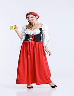 Women's Long Dress Oktoberfest Beer Maid Bar Fancy Costume