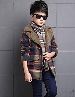 Boy's Casual/Daily Plaid Down & Cotton PaddedPolyester Winter / Spring / Fall Green