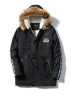 コート レギュラー パッド入り メンズ,カジュアル/普段着 ソリッド ナイロン コットン-シンプル 長袖