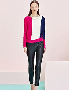 Kvinders Street Tætsiddende Bukser Uelastisk Rayon / Polyester