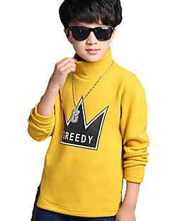 Boy's Casual/Daily Solid Hoodie & Sweatshirt,Acrylic Winter Green / Yellow