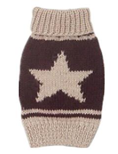 犬 セーター 犬用ウェア 保温 Stars ダークブルー Brown