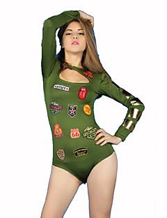 Cosplay Costumes Party Costume Soldier/Warrior Career Costumes Festival/Holiday Halloween Costumes Green Print Leotard/OnesieHalloween