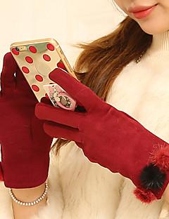 Damer Afslappet Håndledslængde Fingerspidser,Polyester Vinter Patchwork