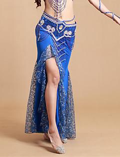 Břišní tanec tutu a sukně Dámské Výkon elastan / Polyester Plisované Jeden díl Přírodní Sukně 93cm