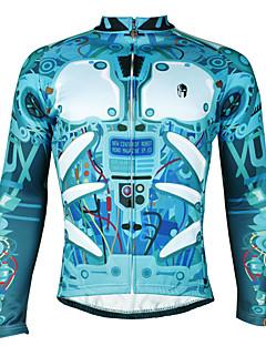 ILPALADINO Cyklodres Pánské Dlouhé rukávy Jezdit na kole Fleecové bundy DresVoděodolný Větruvzdorné Zateplená podšívka Tepelná izolace