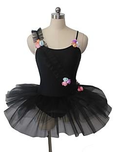 Balé Vestidos Mulheres / Crianças Actuação Nailon / Tule / Licra Apliques / Flor(es) 1 Peça Sem Mangas Malha Collant
