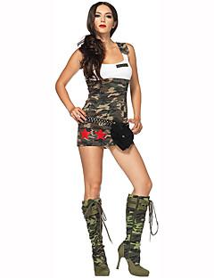 Cosplay Kostüme Party Kostüme Soldat/Krieger Polizei Karriere Kostüme Fest/Feiertage Halloween Kostüme Braun Druck KleidHalloween