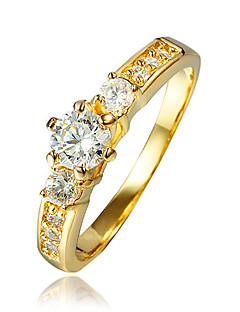 Women's Ring AAA Cubic Zirconia Costume Jewelry Gold Plated 18K gold Jewelry For Wedding Party Daily Casual
