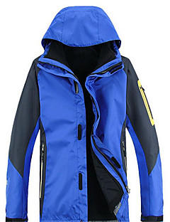 Skikleding Windjacks Softshell jacks Heren Winteroutfit Chinlon Winterkleding waterdicht Houd Warm Winddicht Anti-statischVoorjaar Herfst