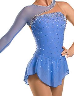 Robe de Patinage Femme Enfant Manches longues Patinage Robes Haute élasticité Robe de patinage artistique Respirable Confortable Dentelle