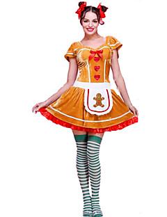 Festival/Højtider Halloween Kostumer Ensfarvet Kjole Hovedtøj Jul Kvindelig
