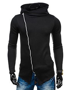 Masculino Jacket Hoodie Casual Activo Simples Sólido Algodão Micro-Elástico Manga Longa Primavera
