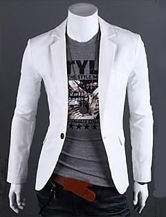 Herren Solide Lässig/Alltäglich Blazer Standard Baumwolle Leinen