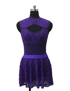 Jazz Dresses Women's / Children's Performance Cotton / Lace / Lycra Lace 1 Piece Sleeveless Dress