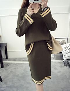 レディース お出かけ カジュアル/普段着 秋 スカート スーツ,セクシー ハートカット ゼブラプリント 長袖 マイクロエラスティック