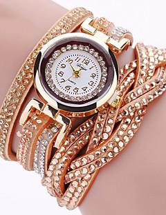 Damen Modeuhr Armband-Uhr Armbanduhr Imitation Diamant Punk Mehrfarbig Quartz PU BandVintage Glanz Eiffelturm Böhmische Bettelarmband