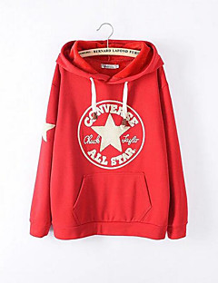 Women's Casual/Daily Hoodie Solid Round Neck Micro-elastic Polyester Short Sleeve Fall