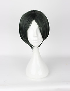 Cosplay Wigs Cosplay Cosplay Cyan Short Anime/ Video Games Cosplay Wigs 35cm CM Heat Resistant Fiber Unisex