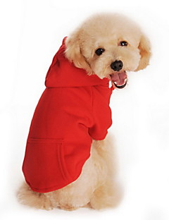 Cat / Dog Hoodie Red / Orange / Black / Gray Dog Clothes Winter / Spring/Fall Solid Casual/Daily / Sports
