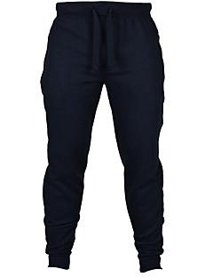 Szczupła Spodnie dresowe Męskie Spodnie-Aktywny Sportowy Jendolity kolor Średni stan Ściągana na sznurek Bawełna / Polyester Micro-elastic
