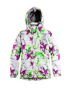 Skiklær Ski/Snowboardjakker Dame Vinterplagg Polyester شريط / Blomster / botanikk VinterklærVanntett / Pustende / Hold Varm / Vindtett /