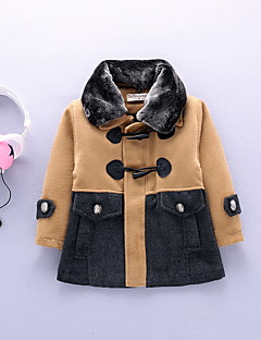 Boy Casual/Daily Solid Trench Coat,Cotton Winter / Fall Long Sleeve