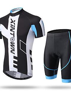 XINTOWN חולצת ג'רסי ומכנס קצר לרכיבה בגדי ריקוד גברים שרוול קצר אופנייםמכנסיים קצרים מכנסיים רוכסן עליון ג'רזי שורטים (מכנסיים קצרים)