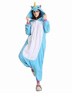 Kigurumi Pajamas Flying Horse Festival/Holiday Animal Sleepwear Halloween Pink Blue Animal Print Velvet Mink Kigurumi ForUnisex Female