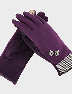 Mulheres Poliéster ponta dos dedos de comprimento de pulso, inverno casuais sólida