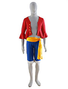 Inspireret af En del Cosplay Anime Cosplay Kostumer Cosplay Kostumer Ensfarvet Frakke Bælte Shorts Til Mand
