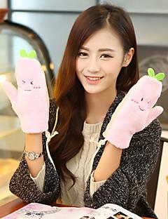 kvinders grønne bønnespirer fingerspidser håndled længde reb søde vinter handsker