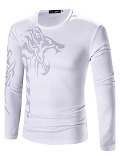 Majica s rukavima Muškarci,Boho / Punk & Gotika Ležerno/za svaki dan / Klub / Izlasci Cvjetni print-Dugih rukava Okrugli izrez-Sva