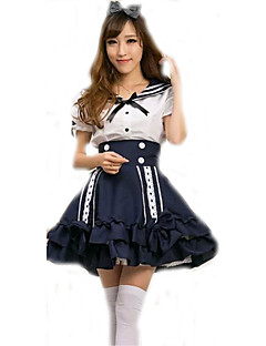 Cosplay Costumes Cosplay Movie Cosplay Blue Solid Top / Skirt Halloween / Carnival Female Polyester
